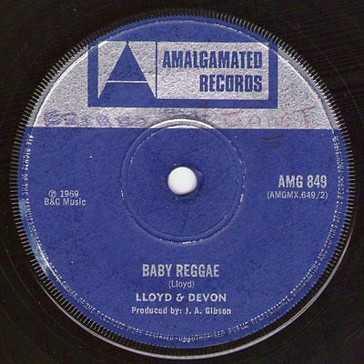 Lloyd and Devon - Baby Reggae (Amalgamated) Ex- 1969 Boss Reggae   ♫