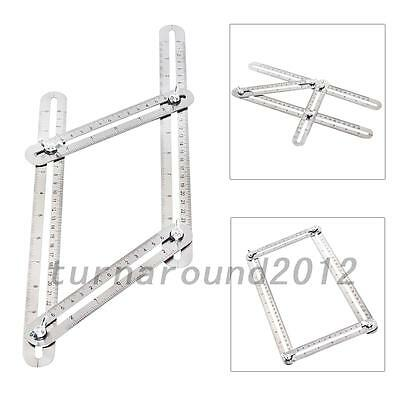 Portable Stainless steel Four-Sided Folding Multi-Angle Ruler Measuring Tool