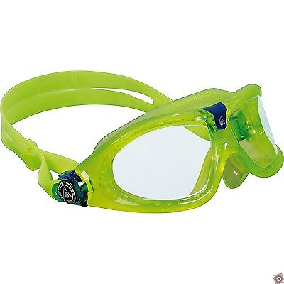 Aqua Sphere Seal Kid 2 Children Swimming Goggles - Lime  - Clear lens