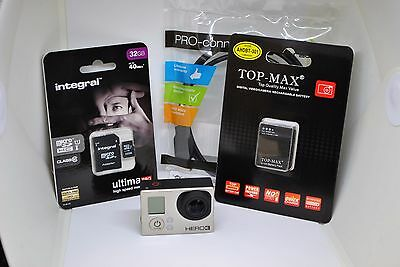 GoPro HERO 3 Black Edition Camcorder with 32GB microSD card
