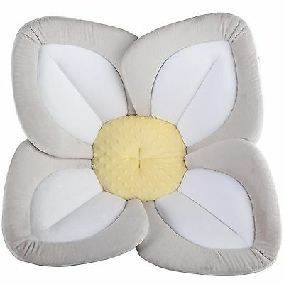Grey Yellow Baby Blooming Bath Lotus Over Sink Super Soft Baby Bath Gift Present