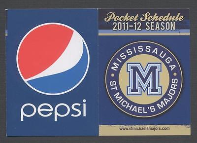 2011-12 MISSISSAUGA ST MICHAEL'S MAJORS OHL Hockey Pocket Schedule