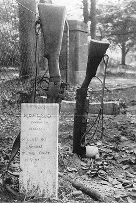 Temporary graves of British paratroopers Lee Enfield rifle Netherlands 44 photo