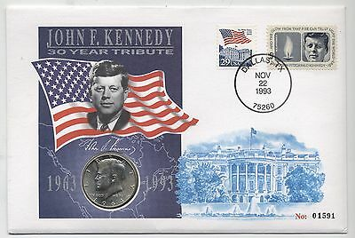 1964 U.S.A.John F.Kennedy 30 Year Tribute Silver Coin Cover*Collectors*Scarce*