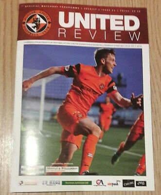 Dundee United v Hamilton programme 25/5/17. 16th May. play off 1st leg. FINAL