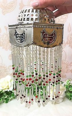 A Beautiful Vintage, Far Eastern Silver Coloured and Beaded light / Lamp Shade