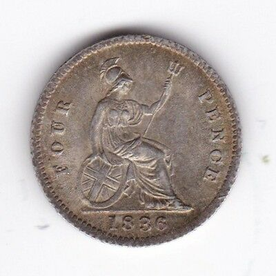 1836 William IIII Fourpence***Collectors***Silver***AUNC*** (2)
