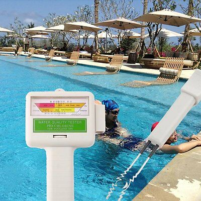 New PH & Cl2 Chlorine Level Tester Swimming Pool Spa Water Quality Monitor UK