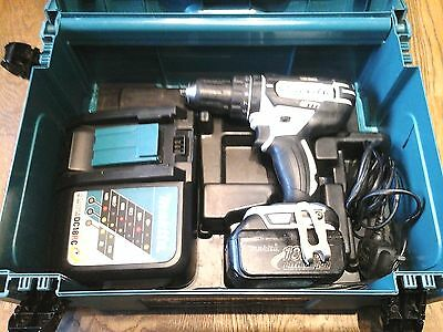 Quality Makita Dhp482 Cordless 18V Lithium-Ion Hammer Drill With Case + Battery