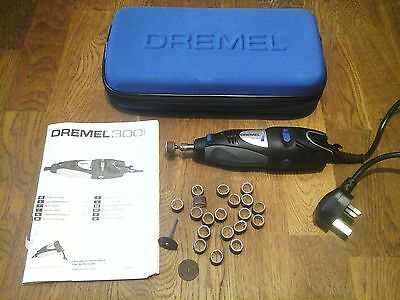 QUALITY DREMEL 300i 230V ROTARY MULTI-TOOL WITH CASE AND ACCESSORIES..CUT SAW SA