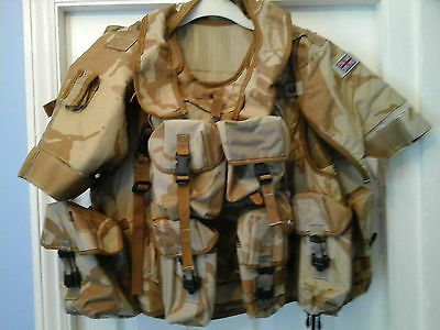 British Army Issue Camoflauge Body Armour Waistcoat + Pouches Airsoft Paintball