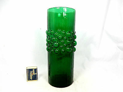 "Original 70´s Pop Art ""bubble"" design glass vase  Glas Vase 25 cm  756 Gramm"