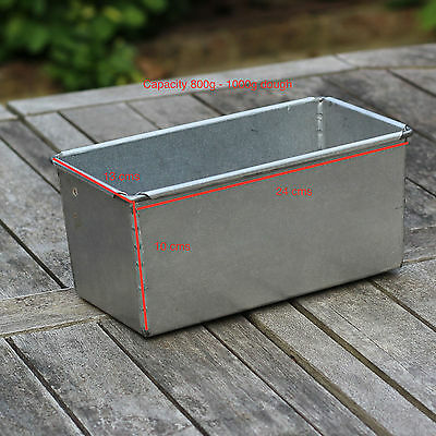 Large Bread Tin. Professional Bakers Pan for 800g dough