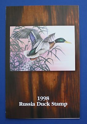 Russia (RD10) 1998 Russia Duck Stamp Presentation Folder with Stamp