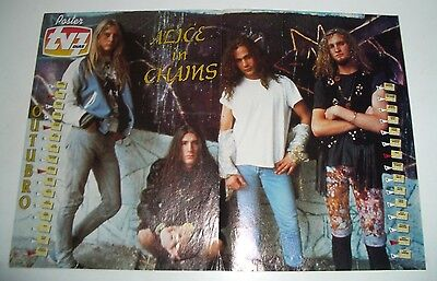 Collection of 2 vintage Alice In Chains Posters, early 90's Portugal
