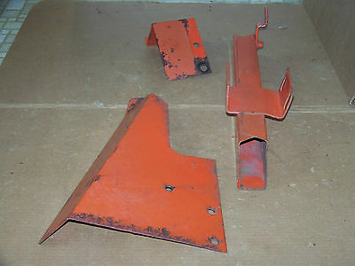 Vintage  Allis Chalmers Seed Planter Chain & Sprocket Guards -Press Wheel Part 2
