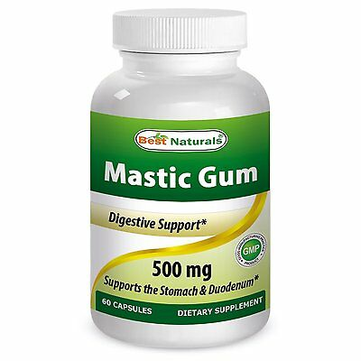 Best Naturals Mastic Gum 500 Mg 60 Capsules - Supports Healthy Digestive System