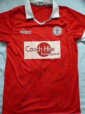 Accrington Stanley Signed Shirt x18 - Football Autograph, 2016-17, Billy Kee