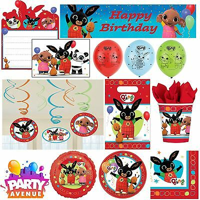 Bing Bunny Childrens Birthday Party Tableware, Favours, Decorations