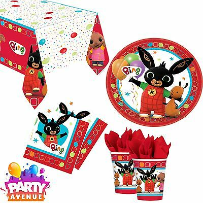 Bing Bunny Childrens Birthday Party Tableware Cups Napkins Plates Tablecloth