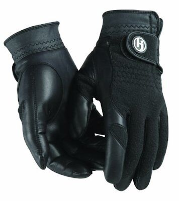 HJ Winter Gloves, LADIES LARGE, Pair of Fleece/Leather, Cabretta Leather Palm