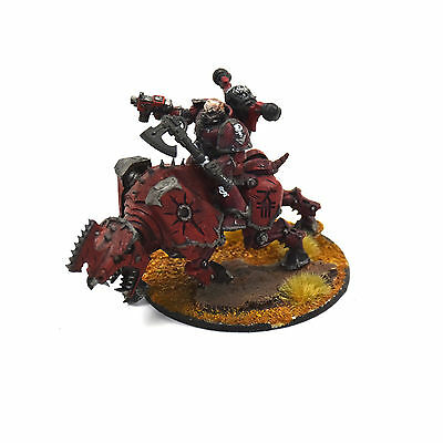 CHAOS SPACE MARINES Lord on juggernaut Converted #1 WARHAMMER 40K WP