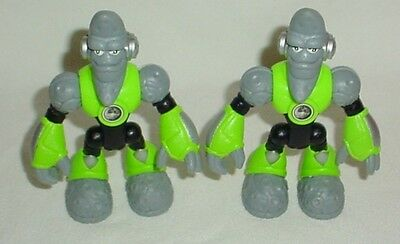 Fisher Price Planet Heroes Figures Lot Lunar Moon Green Gray