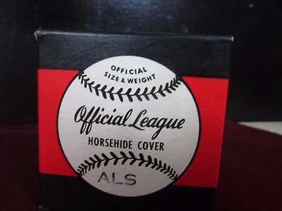 Vintage Macgregor Official Als Baseball Horsehide Cover Nos In Box