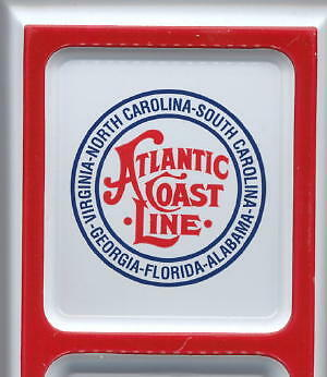 Atlantic Coast Line RR ~ Embossed Tin Wall Thermometer