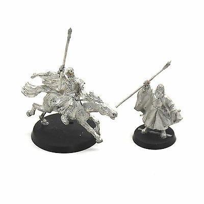 LOTR Gandalf the white foot and mounted Shadowfax METAL Games Workshop