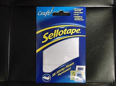 Sellotape Sticky Fixers, 56 Double Sided Strong Permanent Foam Pads