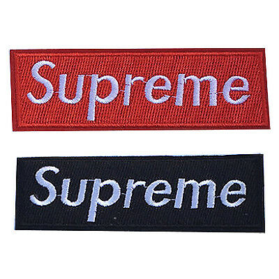 GOD 2X Embroidered Supreme Iron/Sew On Patch Badge Bag Hat Jeans Fabric Applique