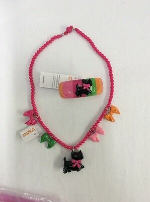 GYMBOREE  CHEERY NECKLACE & BRACELET w/Scotty Dogs NWT