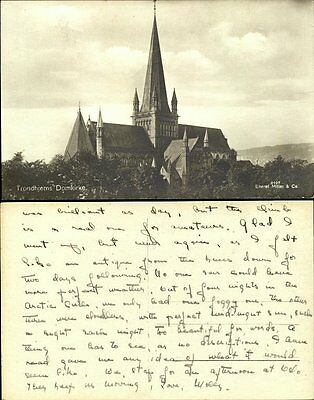 Trondhjems (Trondheim) Domkirke Norway real photo RP