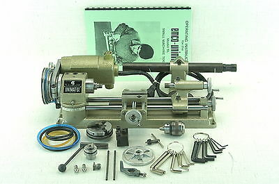 VINTAGE UNIMAT AUSTRIA MINI LATHE MODEL No. DB-200 ( Black Badge).