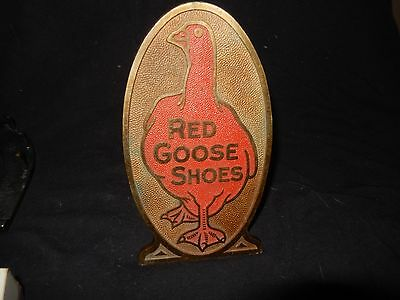 Rare Bronze Counter Top  Red Goose Shoes Sign College Seal & Crest Co. Boston