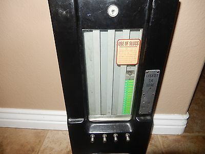 Antique Adams 1 Cent Black Chewing Gum Candy Vending Machine Without The Key