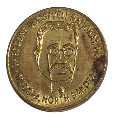 Vintage Theodore Roosevelt National Park Good Luck North Dakota Medal Token Coin