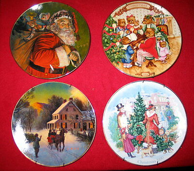 Avon Christmas Plates / Lot of 4 / 1987 to 1990