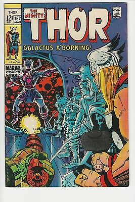 Mighty Thor 162 FN/VF 6.0 Marvel 60s Silver Age Kirby Galactus March 1969