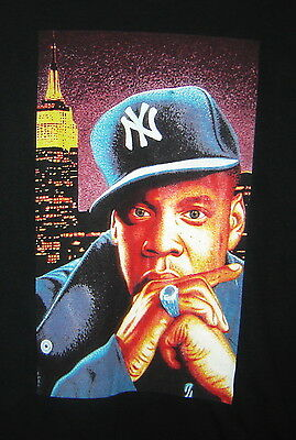 Jay Z Rap Hip Hop Music New York Yankees Hat Empire State Building Black T-Shirt