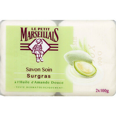 Le Petit Marseillais Savon Soin ALMOND 2x100g Soap original FROM FRANCE