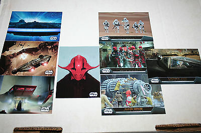 2015 Topps Star Wars the Force Awakens 20X Concept art Weapon Art Movie ....