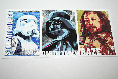 2016 Topps Star Wars Rogue One Character Icon lot of (3) Darth Vader, Baze,