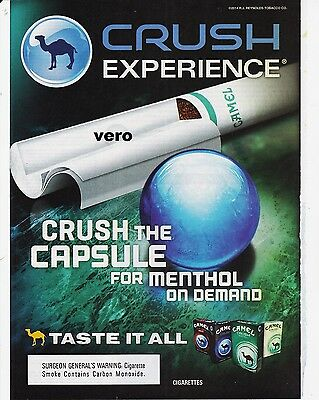 CAMEL crush 2014 magazine ad cigarettes advertisement print art clipping advert