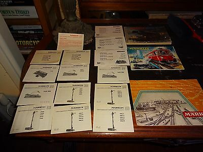VINTAGE MARKLIN  CATALOGs KATALOG  Instruction manuals 1955 Collection