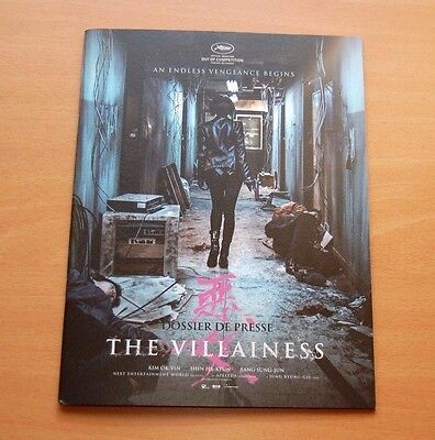 THE VILLAINESS Official Pressbook Cannes 2017 Jung Byung-gil South Korea