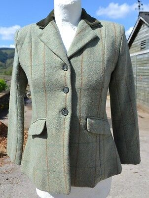 Sherwood Forest * Campolino 2 * Green Wool Mix Tweed Showing Jacket * 28 *