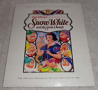 Disney's Snow White and the Seven Dwarfs Set of 10 Exclusv Lithographs 1937-1993