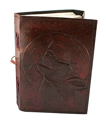 "5"" X 7"" Leather Wolf Journal"